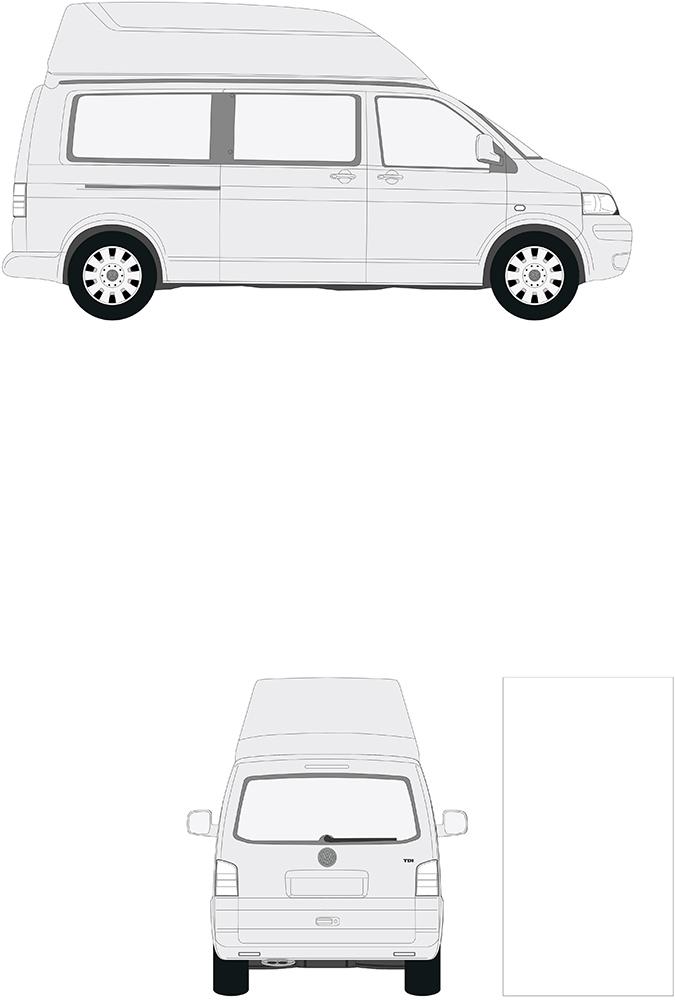 volkswagen t5 vw langer radstand hochdach sca 462. Black Bedroom Furniture Sets. Home Design Ideas